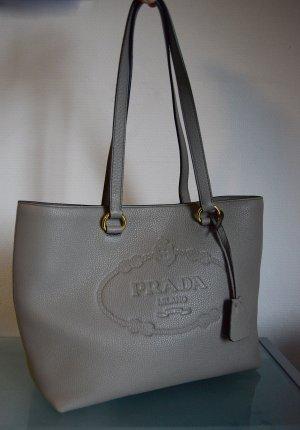 Prada Shopper gris cuir