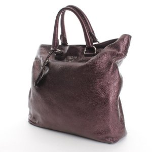 Prada Shopper in Violett-Metallic