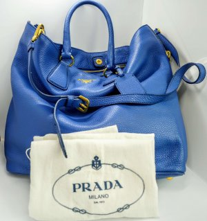Prada Handbag steel blue