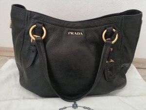 Prada Shopper Leder schwarz Nero Soft Calf