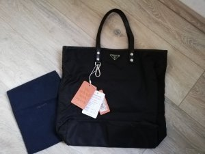 Prada Borsa shopper nero-argento