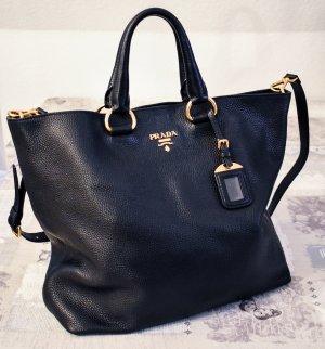 Prada Shopper - Schwarz mit Gold Elementen