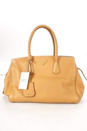 "Prada Shopper ""Shopping Zip Bag Vitello Grain Caramel"" camel"