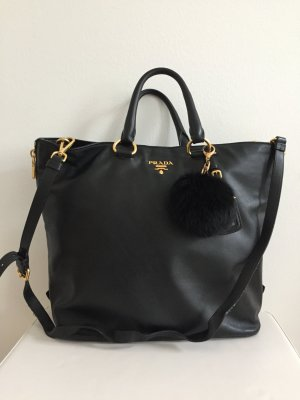 Prada Shopper Tasche schwarz Nero Crossbody