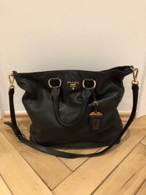 Prada Shopper black-gold-colored