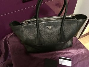 Prada Shopper Trapez Tasche schwarz Original komplett Leder