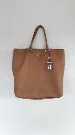 Prada Shopping Bag Vitello Daino Fashionette Caramel Tasche Shopper