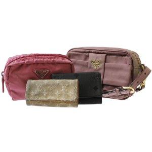 PRADA Shoulder Bag Pouch Pink Nylon