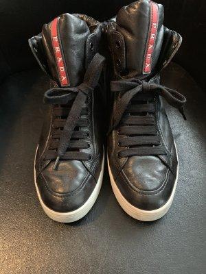 Prada Zapatillas altas blanco-negro