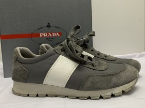 Prada Lace-Up Sneaker grey leather