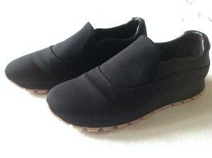 Prada Zapatillas deslizantes negro tejido mezclado