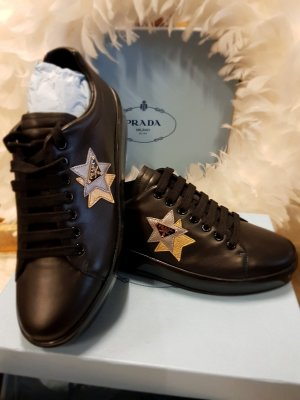 Prada Sneaker stringata nero Pelle