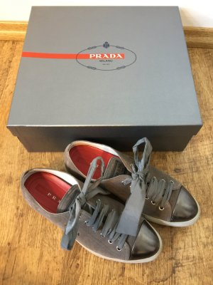 Prada Lace-Up Sneaker multicolored suede