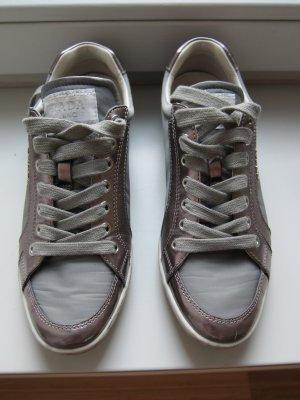 PRADA Sneaker Silber metallic, Gr. 35