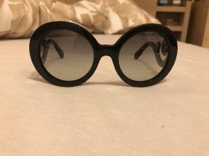 Prada Gafas de sol redondas negro Material sintético