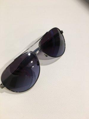 Prada Ovale zonnebril zwart-donkerblauw