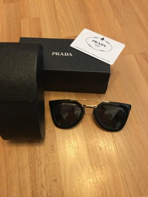 Prada Angular Shaped Sunglasses black-gold-colored