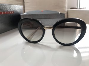 Prada Gafas de sol redondas negro-color oro