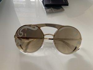 Prada Ronde zonnebril zilver-grijs