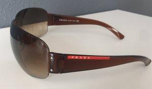 Prada Ovale zonnebril bruin kunststof