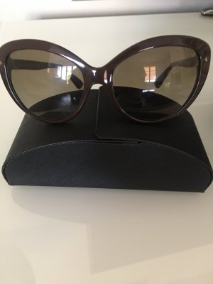 Prada Glasses brown synthetic material