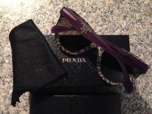 Prada Sonnenbrille Cat Eye Violett lila gemustert wie neu original