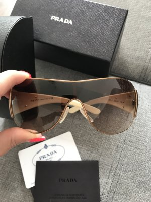 Prada Gafas de piloto crema-color oro
