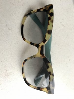 Prada Hoekige zonnebril veelkleurig