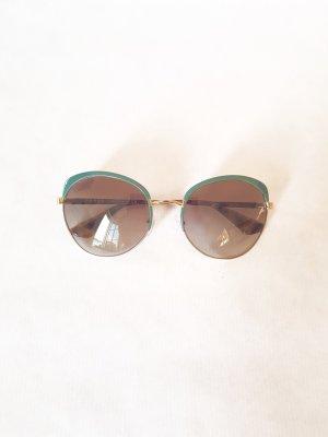 Prada Sonnenbrille mit grünen Details