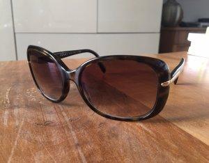 Prada Hoekige zonnebril donkerbruin