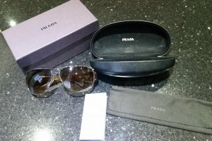Prada Aviator Glasses dark brown-brown