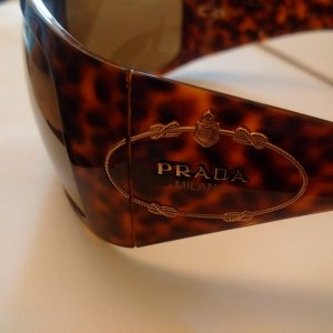Prada Glasses cognac-coloured-light brown synthetic material