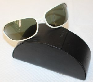 Prada Oval Sunglasses white synthetic material