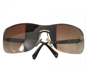 Prada Occhiale stile retro oro-bronzo