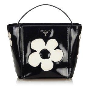 Prada Spazzolato Floral Handbag