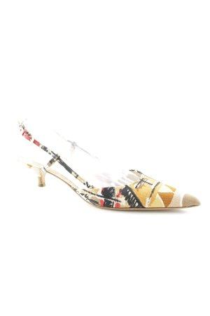 Prada Spitz-Pumps abstraktes Muster Street-Fashion-Look