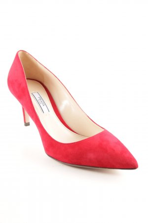 "Prada Spitse pumps ""Calzature Donna Camoscio Pump Cherry"" rood"