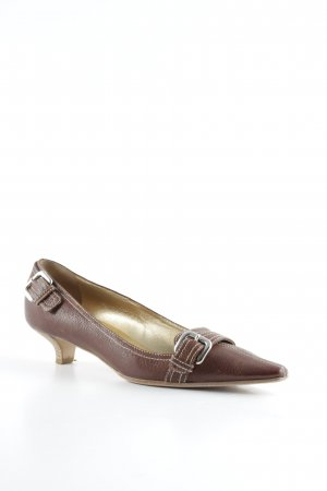 Prada Spitz-Pumps cognac Business-Look