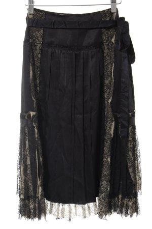 Prada Spitzenrock schwarz-sandbraun Elegant