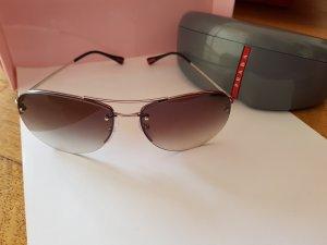 Prada Zonnebril lichtgrijs-grijs-bruin