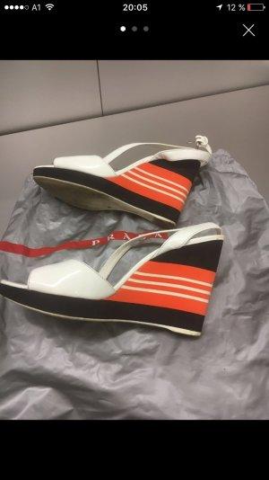 Prada Sport Sandalen weiß/schwarz/orange