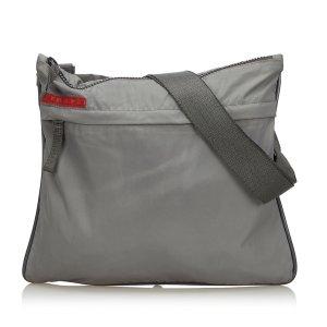 Prada Sac bandoulière gris clair nylon