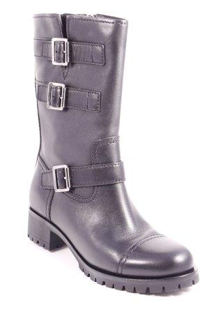 """Prada Springerstiefel """"Leather Boots Black 41"""" schwarz"""