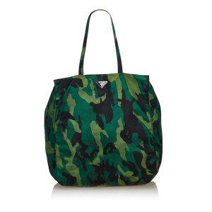 Prada Stampato Nylon Camouflage Tote Bag