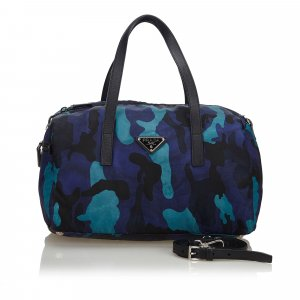 Prada Stampato Nylon Shoulder Bag