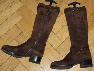 PRADA ♥️ Stiefel 38,5 39 braun Nubuk Blockabsatz