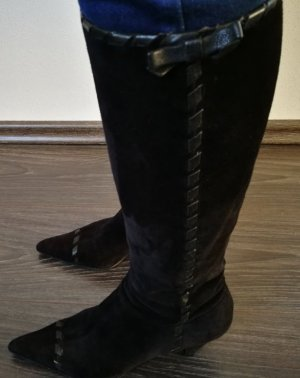 Prada High Boots black suede