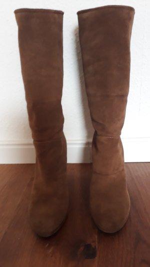 Prada Jackboots light brown-brown suede