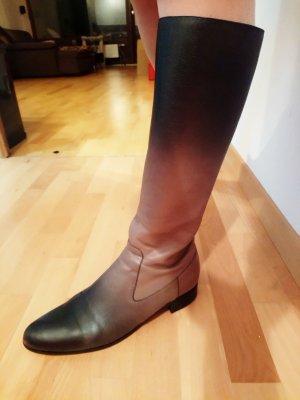 Prada Hoge laarzen grijs-bruin-zwart bruin Leer