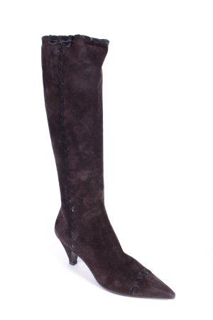 Prada Stiefel dunkelbraun Eleganz-Look